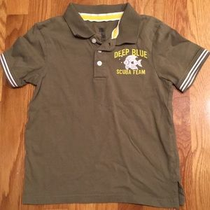 Faded Glory Olive Green Polo Shirt Scuba Sz. 5